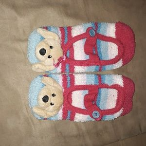 Other - Big girls 4-6 striped bear slippers